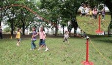 画像2: なわとびポール 3色ロープ付き 送料無料 (2)