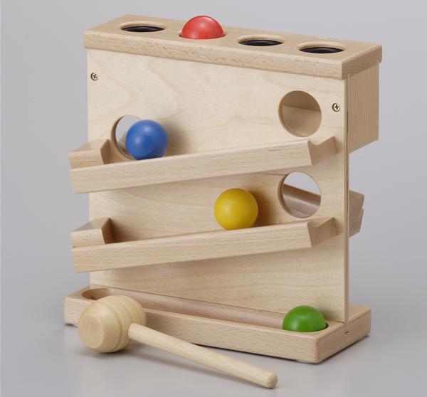 画像1: 木製パウンドザボールボール落とし (1)