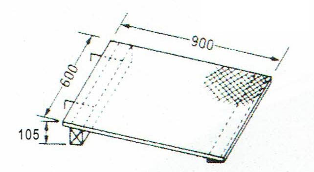 画像1: 巧技台ワイド用ワイド斜面板(カーペット張り) (1)