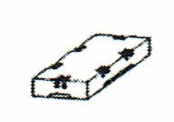 画像1: 巧技台バラ売り ふた(高さ9.8cm)グリーンゴム張り 送料無料 (1)
