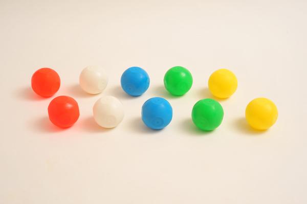 画像1: 玉入れ球 ソフトタイプ 1個入り 赤 白 青 黄 緑 玉入れ用玉 運動会用品 体育祭 学校 保育園 幼稚園 (1)